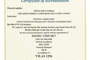 Công nhận ISO quốc tế